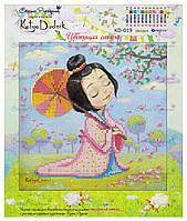 """Рисунок - схема для вышивания бисером """"Цветущая сакура"""""""