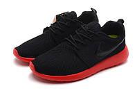 "Кроссовки Nike Roshe Run ""Black Red"" (Копия ААА+), фото 1"