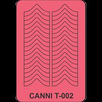 Трафарет для френча шеврон CANNI Т-002