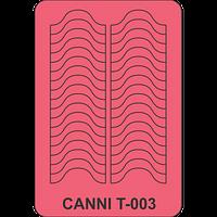 Трафарет для френча улыбка CANNI Т-003