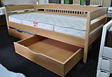 """Односпальне ліжко """"Нота плюс"""" з бука (щит, масив), фото 3"""
