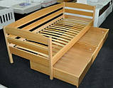 """Односпальне ліжко """"Нота плюс"""" з бука (щит, масив), фото 4"""