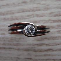 Серебряное кольцо с фианитом, фото 2