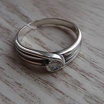 Серебряное кольцо с фианитом, фото 3