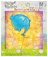 """Рисунок - схема для вышивания бисером """"Синий слон (диптих, ч.1)"""""""
