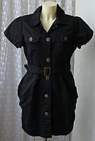 Платье женское модное черное льняное лен рами р.48 6500