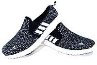 Женские слипоны Adidas темно-синие Р. 39