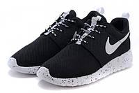 "Кроссовки Nike Roshe Run ""Black with Black Dots"" (Копия ААА+), фото 1"