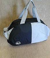 Спортивная сумка для занятий спортом  черная с серым цветом