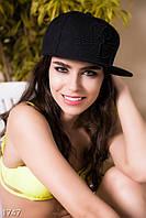 Стильная однотонная женская кепка с мультяшной вышивкой коттон