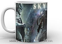 Кружка Geekland Скайрим Довакин и логотип Skyrim
