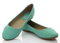 Женские балетки, лодочки туфли , туфли, на плоской подошве от производителя  бирюзового летнего цвета