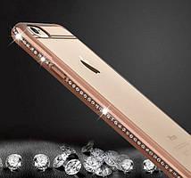 Чехол для iPhone 6 6S силиконовый ободок со стразами