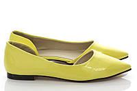 Туфли лодочки яркого желтого цвета  размеры 38,39,40