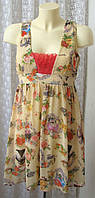 Платье летнее красивое в котиках модное р.44 6508