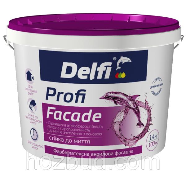 """Краска латексная акриловая фасадная Profi Facade (TM """"Delfi"""") 1,4 кг"""