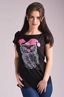 Женская футболка хулиганка Сова