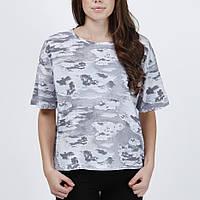 Светло серая свободная футболка Calla cloud от JUNKYARD XX-XY в размере M
