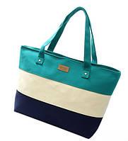 Женская сумка. Пляжная сумка Бирюза