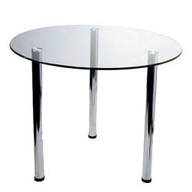 Стол стеклянный круглый D-70см