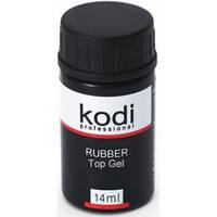 Каучуковое верхнее покрытие, топ Kodi Professional Rubber Top для гель-лака, 14 мл.