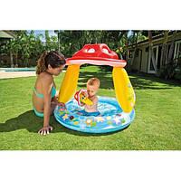 Бассейн детский надувной Intex 57114 Гриб 102x89 см с надувным дном
