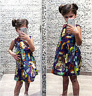 """Детское стильное платье """"Неопрен Лица"""""""