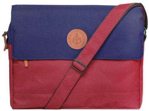 """Функциональная сумка-менеджер для ноутбука диагональю 12-14"""" GIN БИФИТЕР-bordo blue"""