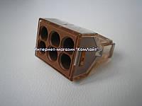 Клемма для больших сечений WAGO 773-606 на 6 моножильных проводников 1,5...4 мм2 (Германия), фото 1