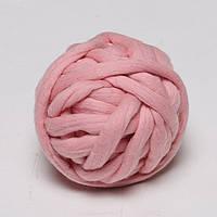 Обработанная толстая пряжа TERMO. Толщина 2.5 см. Розовый