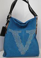 Замшевая сумка передняя часть из натурального замша бренд  Velina Fabbiano