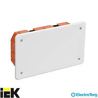 Коробка КМ41006 распаячная (распределительная, соединительная) для твердых стен 172x96x45 мм ИЭК
