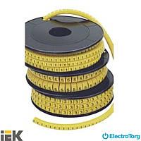 """Маркер кабельный МК0 1,5 мм - 10 мм символ """"B""""  ИЭК (IEK)"""