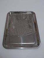Разнос метал. прямоугольный Виноград, фото 1