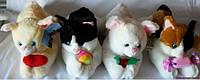 Мягкая игрушка озвученная кот с подарком
