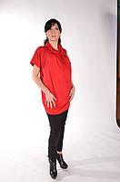 Платье-туника для беременных, трикотаж, красное