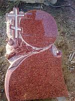 Памятник Зеркало с розами и крестом
