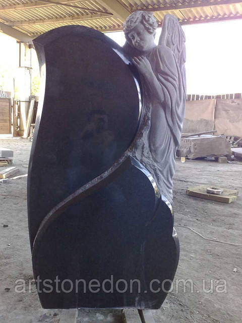 Памятник Житомир скульптуры ангелов. Памятник из гранита Ангелочек