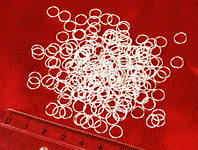 Колечки соединительные, 8 мм, под серебро, 20 шт.