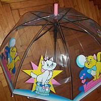 Зонт детский прозрачный Котенок, фото 1