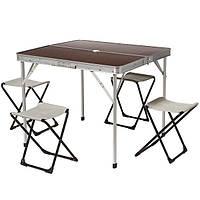 Стол и стулья раскладные HXPT-8833-A