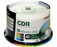 CD-R диски для аудио, принтовые Polaroid Printable White 50