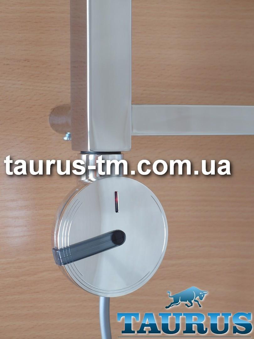 Круглый дизайнерский электроТЭН Enix chrome с регулятором: 30-75C + таймер 2 ч + подсветка; Польша, поворотный