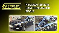 Hyundai I-20 2014+ Ветровики 4 шт перфлекс