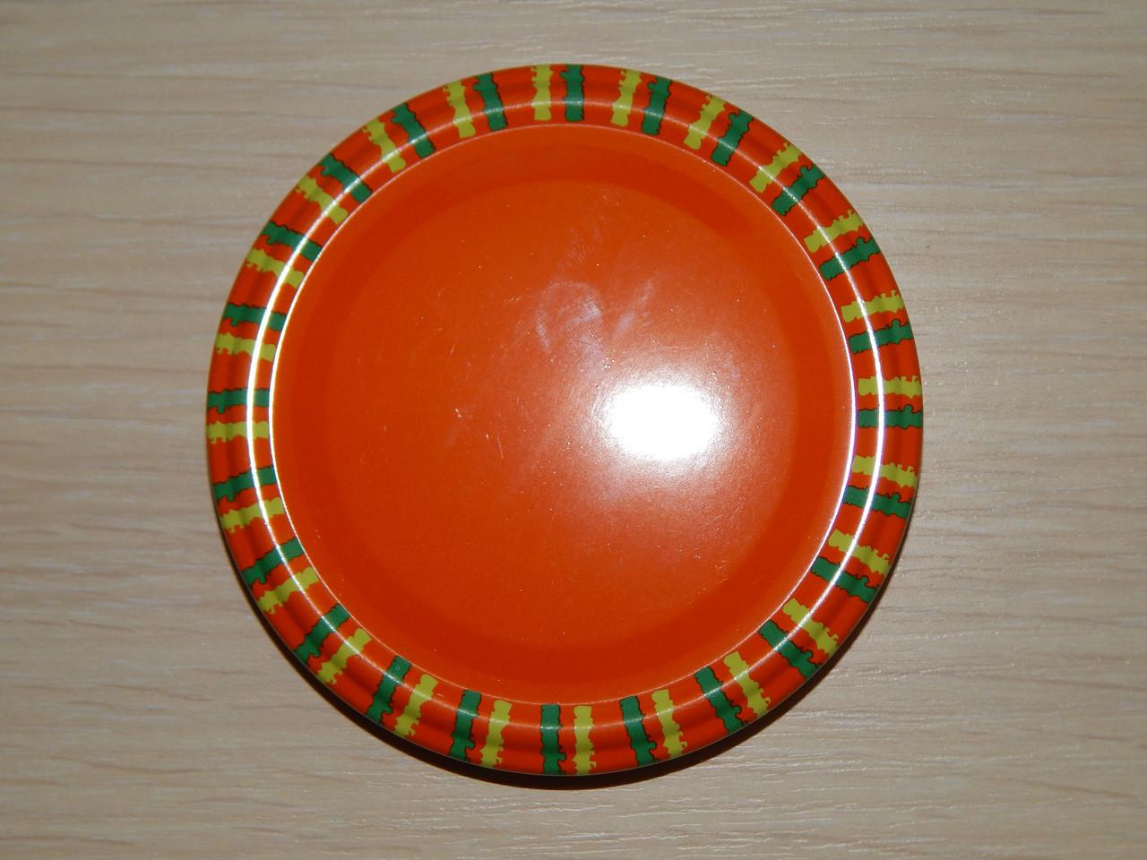 Крышка закаточная твист-офф размер 82 мм оранжевая