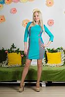 Модельное комбинированное платье