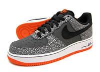 Мужские кроссовки Nike Air Force 1 Low серо-оранжевые, фото 1
