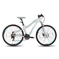 """Велосипед 26'' PRIDE BIANCA DISC рама - 16"""" серо-бирюзовый матовый 2016"""