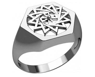 Кольцо серебряное Звезда Эрцгамма 30239