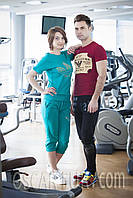 Спортивный костюм для девушек, цвет - зеленый